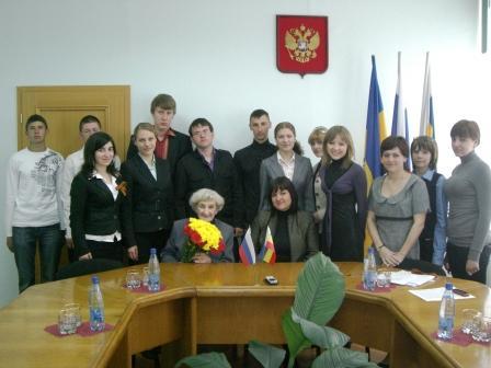 30 апреля 2010 года Молодёжным парламентом была проведена традиционная встреча молодёжи с ветеранами