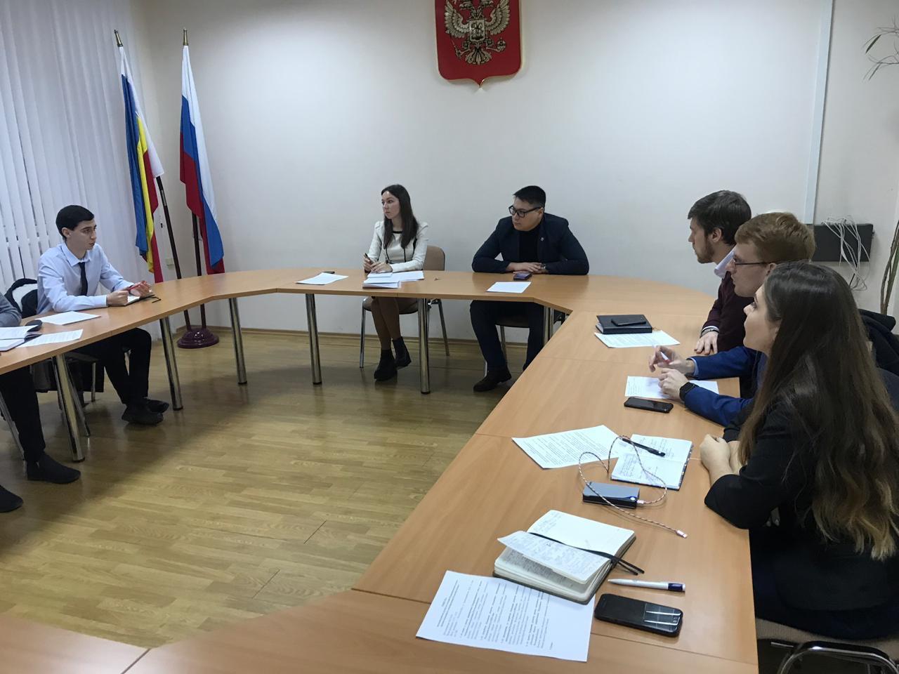 Председатель Молодёжного парламента города Шахты принял участие в заседании рабочей группы по созданию Координационного совета органов молодежного самоуправления Ростовской области.