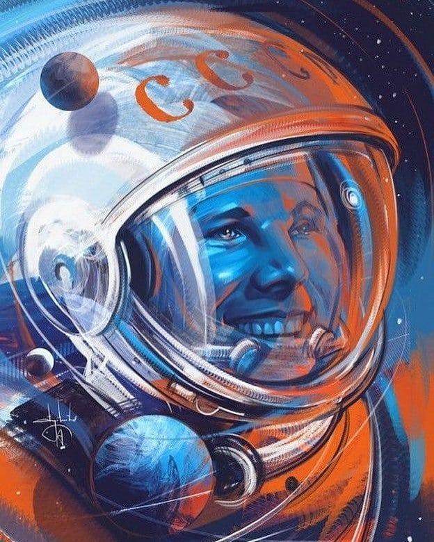 12 апреля 1961 г. Юрий Алексеевич Гагарин стал первым человеком, полетевшем в космос